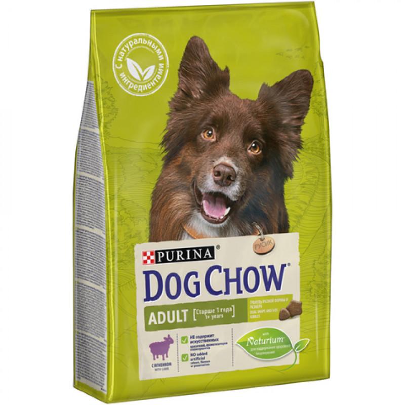 Dog Chow Adult Lamb&Rice Корм для взрослых собак старше 1 года с Ягненком и Рисом 14кг