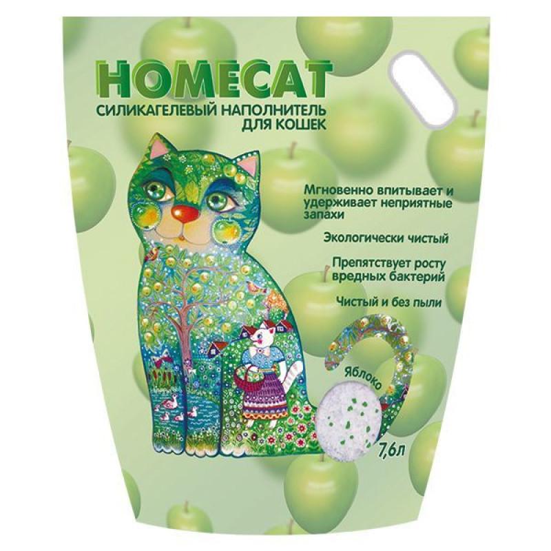 HOMECAT Яблоко Силикагелевый наполнитель для кошачьих туалетов