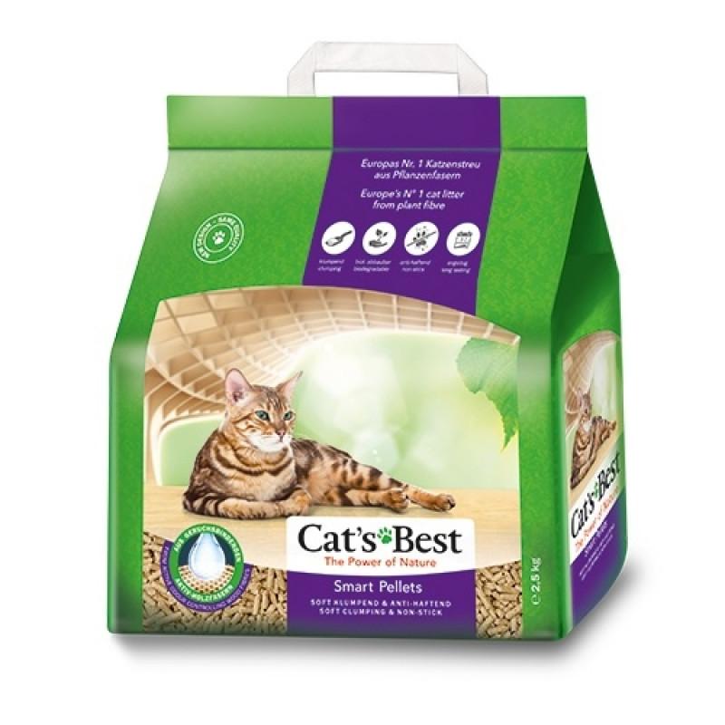 Cats Best Smart Pellets Наполнитель комкующийся древесный для длинношерстных кошек