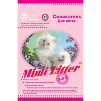 Mimi Litter Наполнитель силикагелевый для котят, розовые гранулы