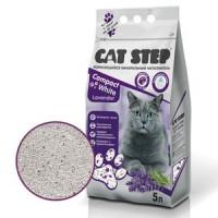 Cat Step Наполнитель комкующийся минеральный Compact White Lavеnder, 5 литров