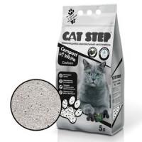 Cat Step Наполнитель комкующийся минеральный Compact White Carbon, 5 литров